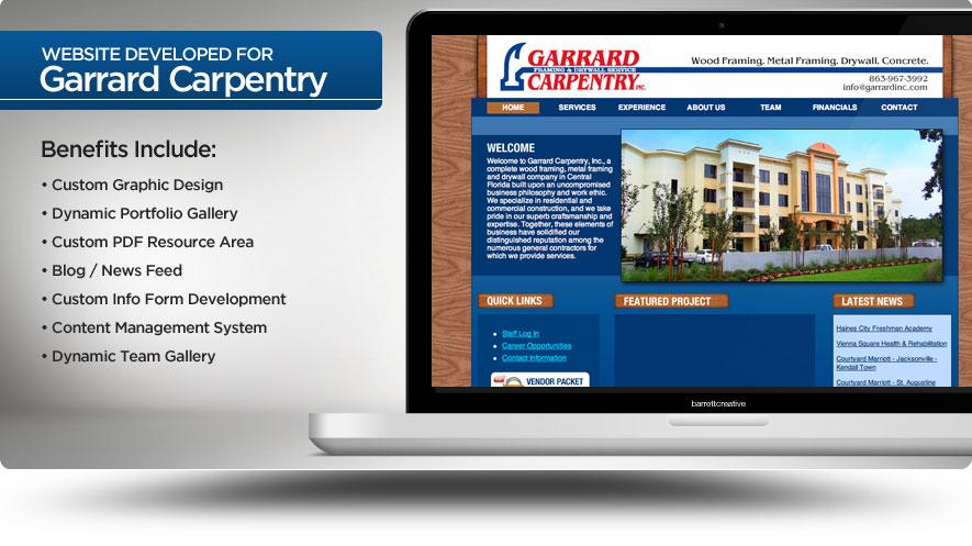 Web Design – Garrard Carpentry