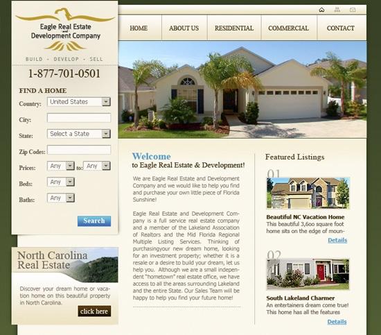 Web Design – Eagle Real Estate Company