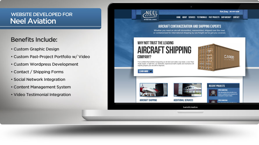 Web Design – Neel Aviation