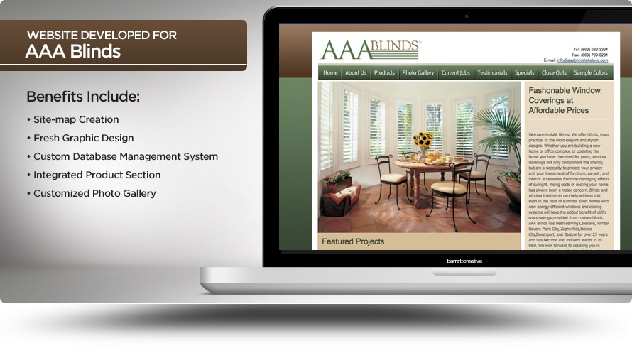 Web Design – AAA Blinds