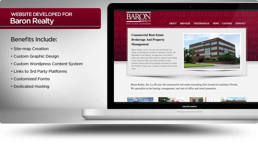 Web Design – Baron Realty