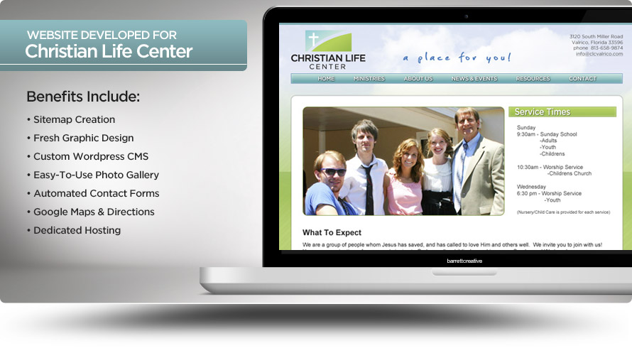Web Design – Christian Life Center