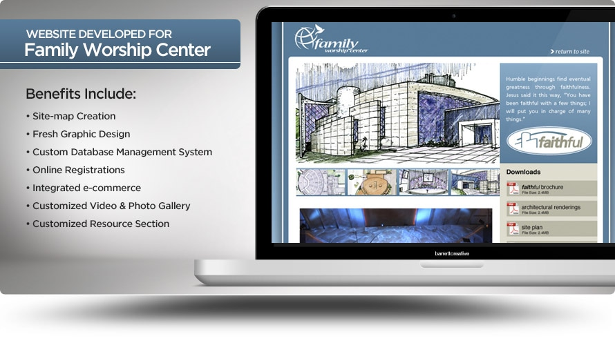 Web Design – Family Worship Center