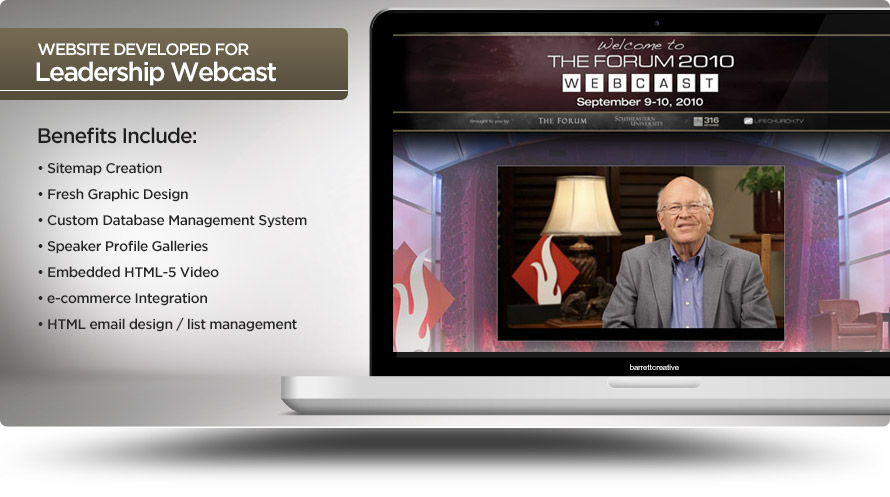 Web Design – Leadership Forum Webcast