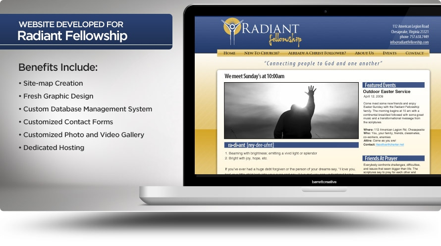 Web Design – Radiant Fellowship