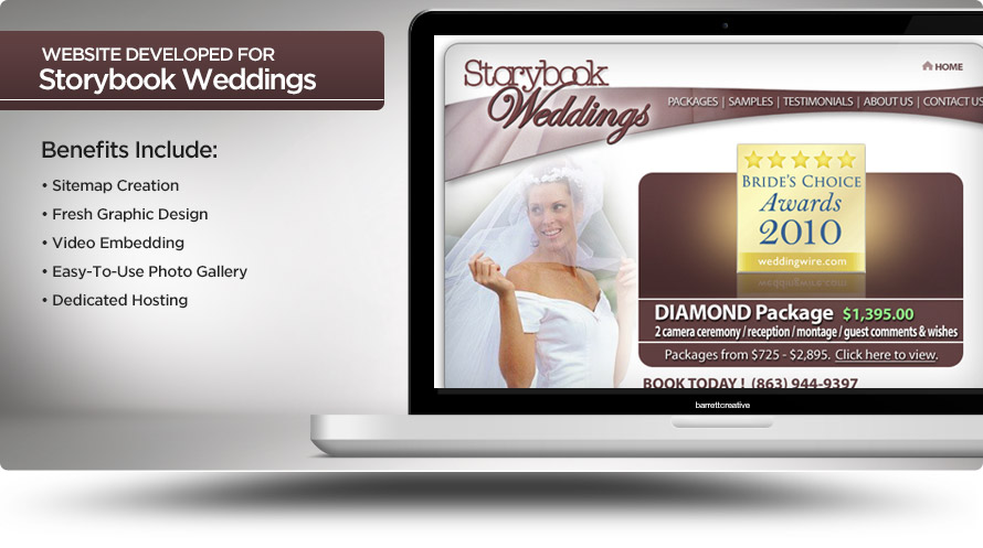 Web Design – Storybook Weddings