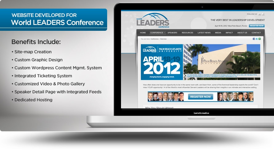 Web Design – World LEADERS Conference
