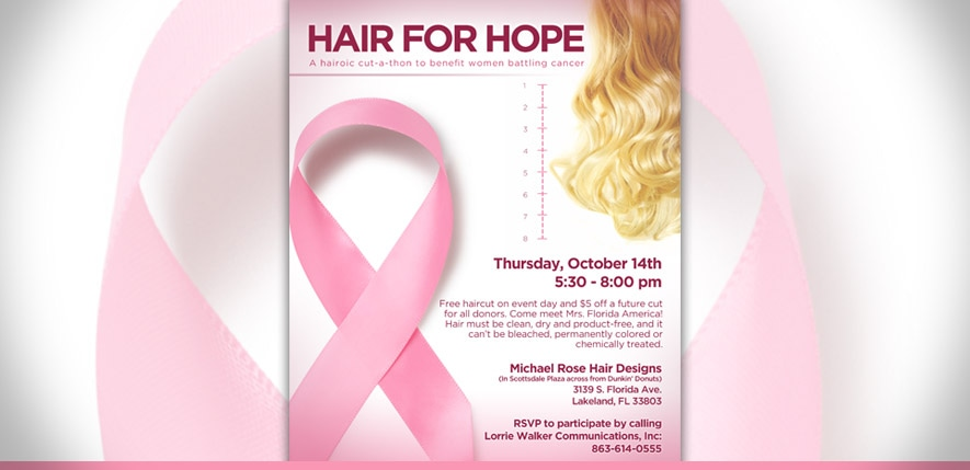 Graphic Design – Hair for Hope Poster