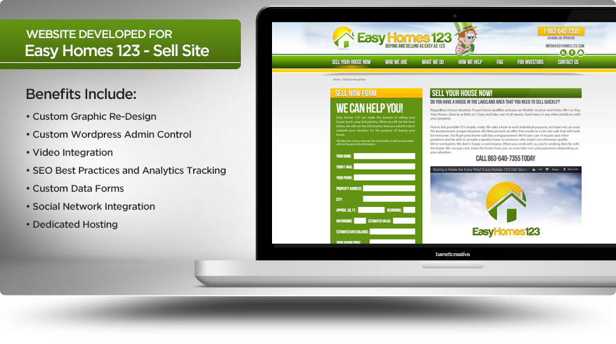 Web Design – Easy Homes 123 Sell Site Re-Design