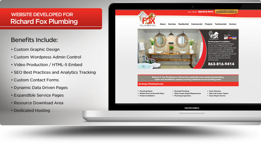 Web Design – Richard Fox Plumbing